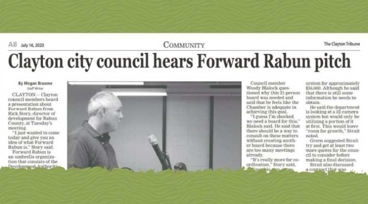Clayton city council hears Forward Rabun pitch