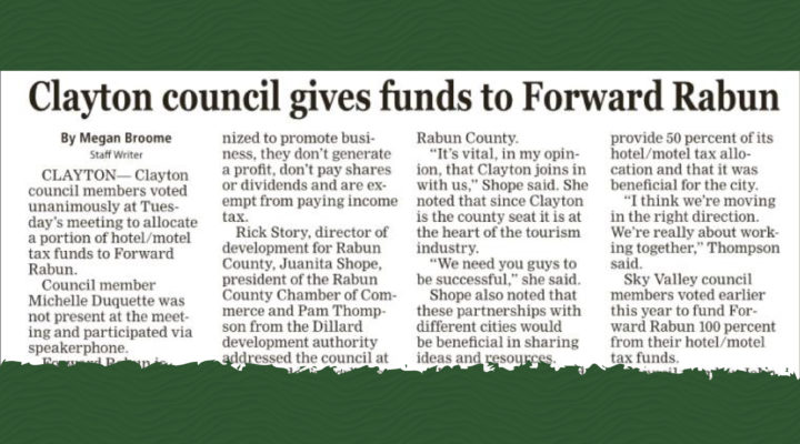 Clayton council gives funds to Forward Rabun