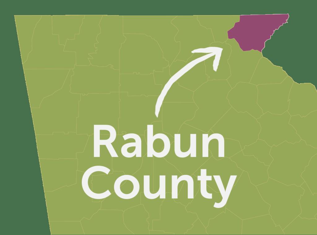 Rabun County Map - Color